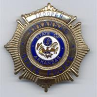 metal arkansas state trooper badge with crest image